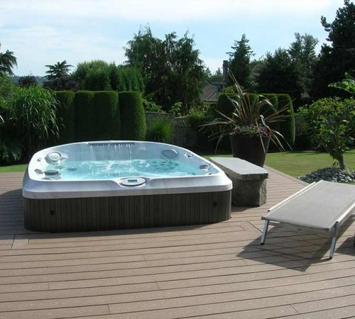 Backyard Installation Jacuzzi Hot Tub New Jersey