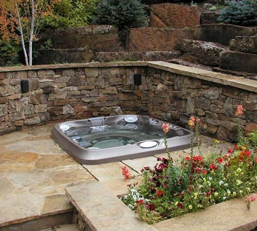 Backyard Jacuzzi Hot Tub Installation New Jersey