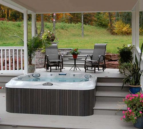 Covered Outdoor Jacuzzi Hot Tub New Jersey