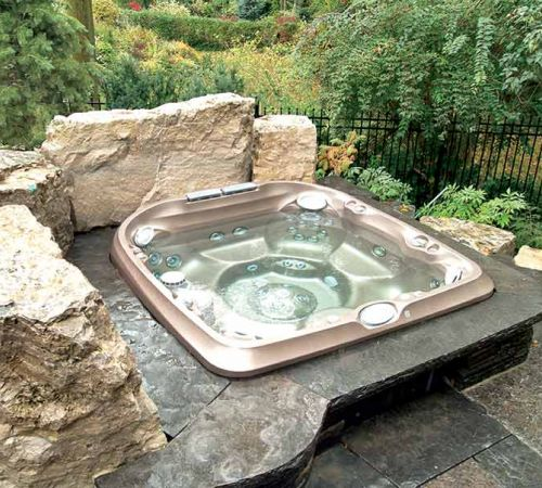 Jacuzzi Hot Tub Backyard Installation New Jersey