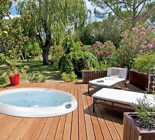 Jacuzzi Hot Tub Deck Lawn New Jersey