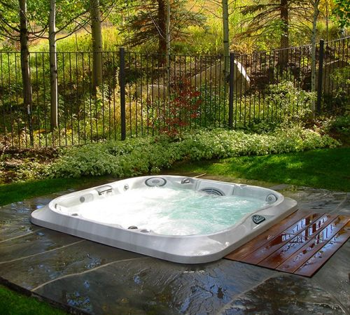 Jacuzzi Hot Tub Forest Installation New Jersey