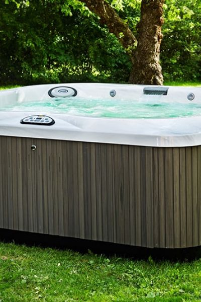 Jacuzzi Hot Tub Lawn Install in New Jersey