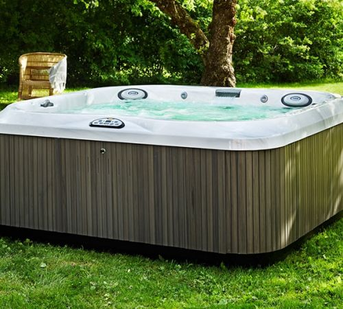 Jacuzzi Hot Tub Lawn Install New Jersey