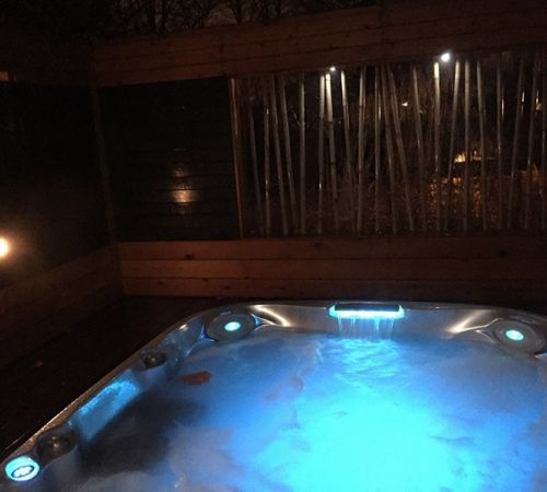 Night Time Jacuzzi Hot Tub Lights Night New Jersey