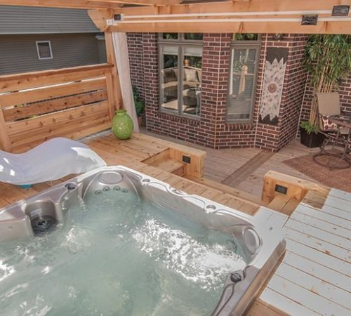 Outdoor Deck Jacuzzi Hot Tub Install New Jersey