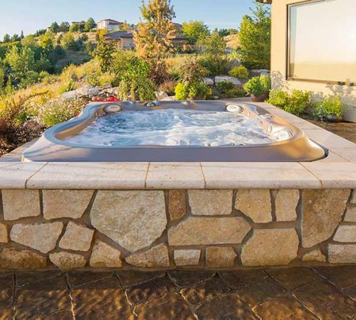 Outdoor Jacuzzi Installation Summer New Jersey