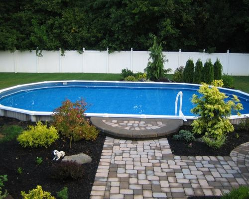 Semi Inground Pool in Nutley
