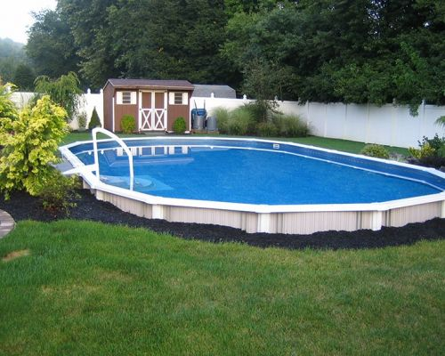 Semi Inground Pool in Nutley New Jersey