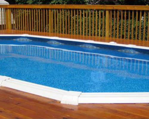 Semi-Inground Pool in Nutley