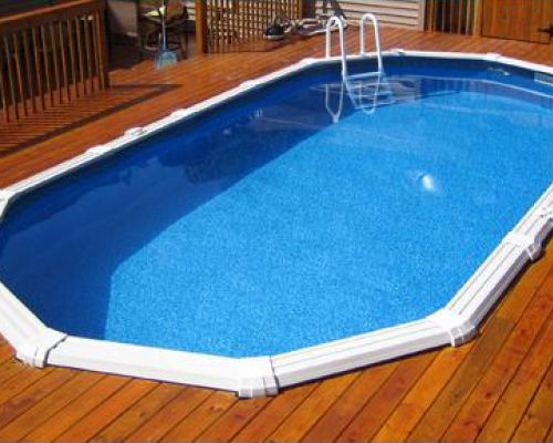 Semi-Inground Pool in New Jersey