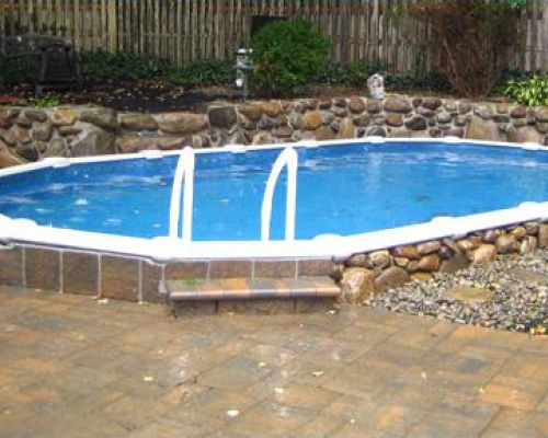 Semi-Inground Pools in Nutley, New Jersey