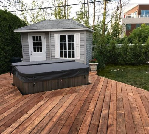 Wooden Patio Install J 335 New Jersey